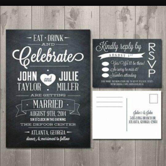 Simple Chalkboard Invite I Like The Font Chalkboard Wedding Invitations Chalkboard Wedding Wedding Invitations Uk