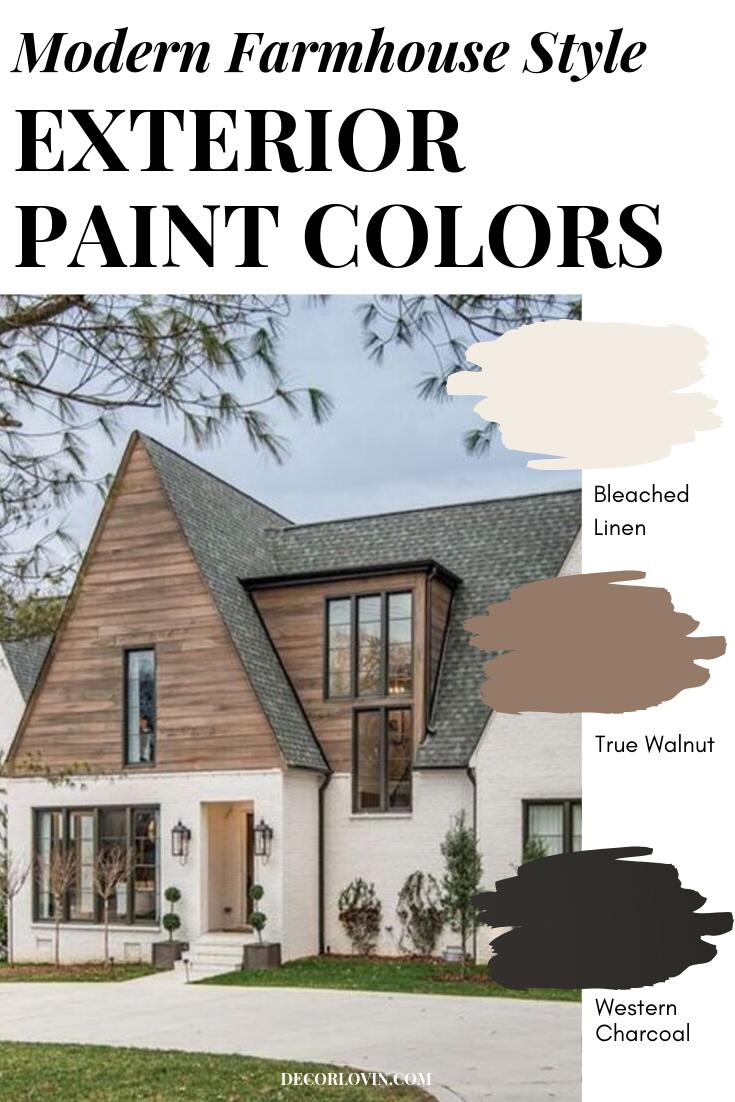 Modern Farmhouse Exterior Paint Combinations