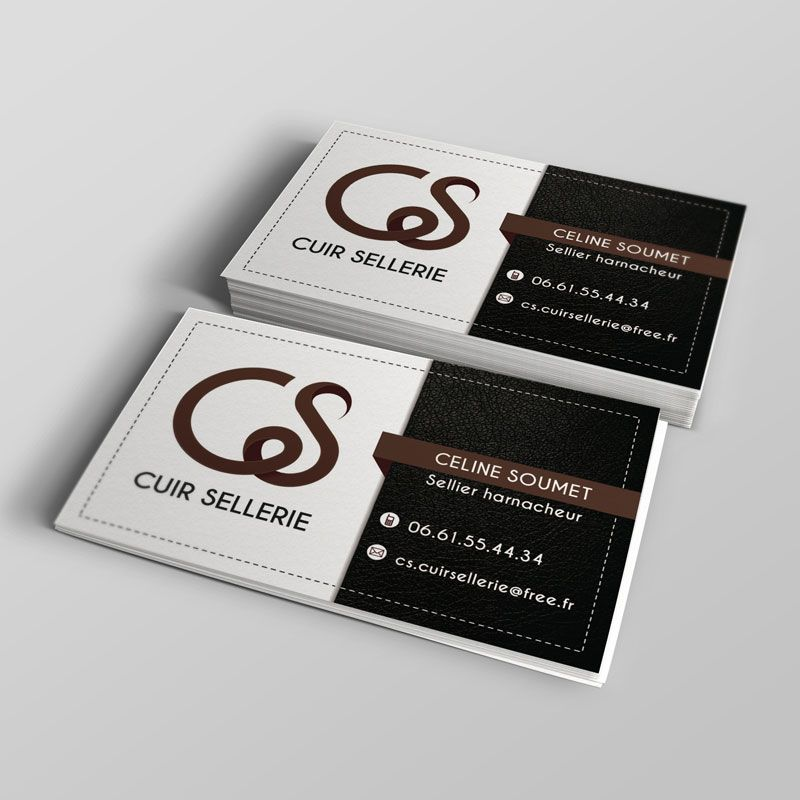 Creation Logo Carte Flyer Cs Cuir Sellerie Creation Logo