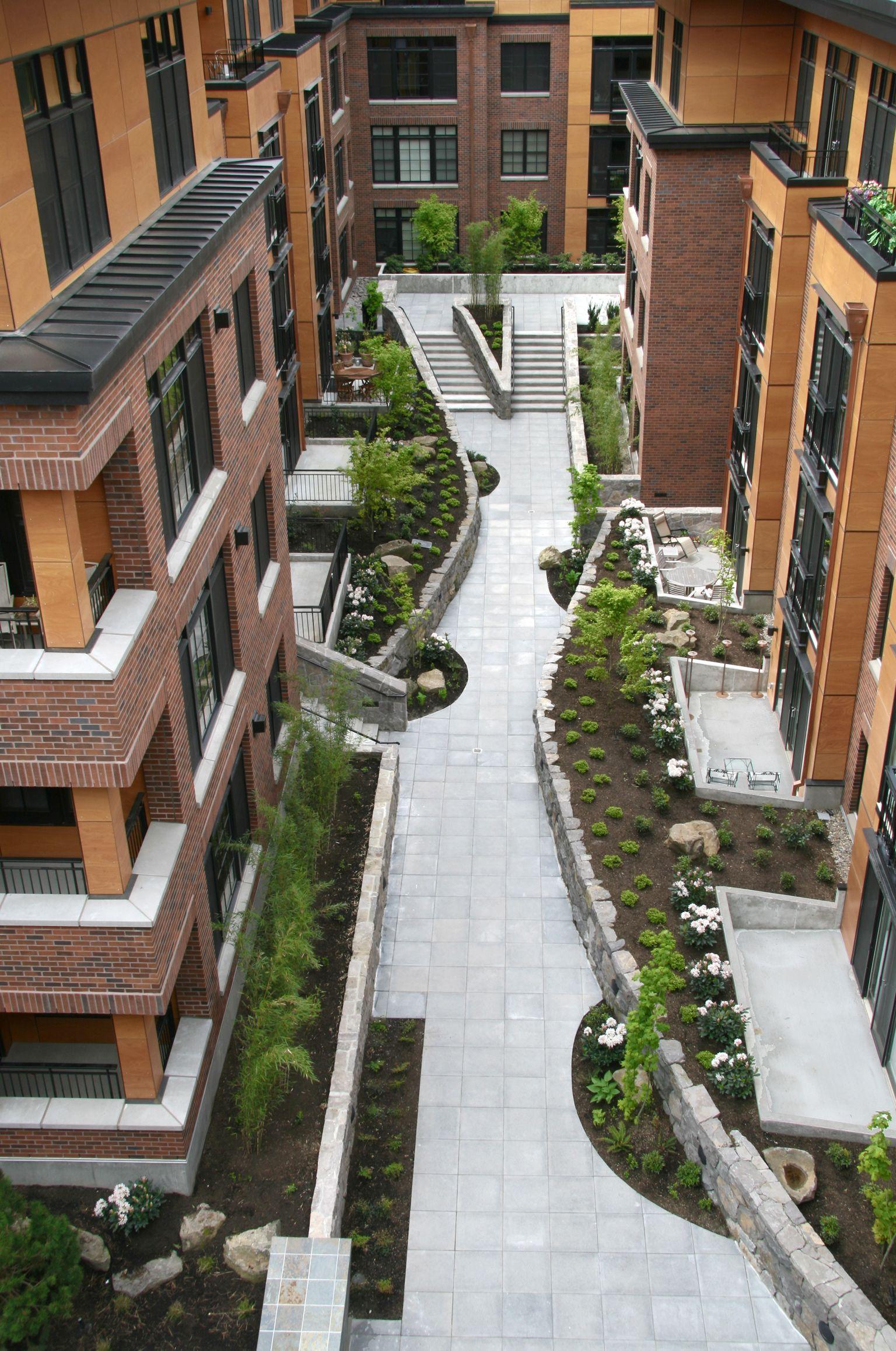 The Vaux Condominiums Portland Oregon Portland Landscape Design Urban Landscape Design Landscape Design Landscape Design Plans