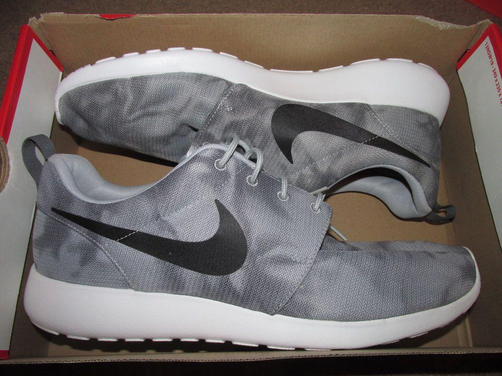 d2a19592b6c10 Nike Roshe Run Print Tie Dye Mens Shoes 13 Wolf Grey Black Dark Grey 655206  001  Nike  FashionSneakers