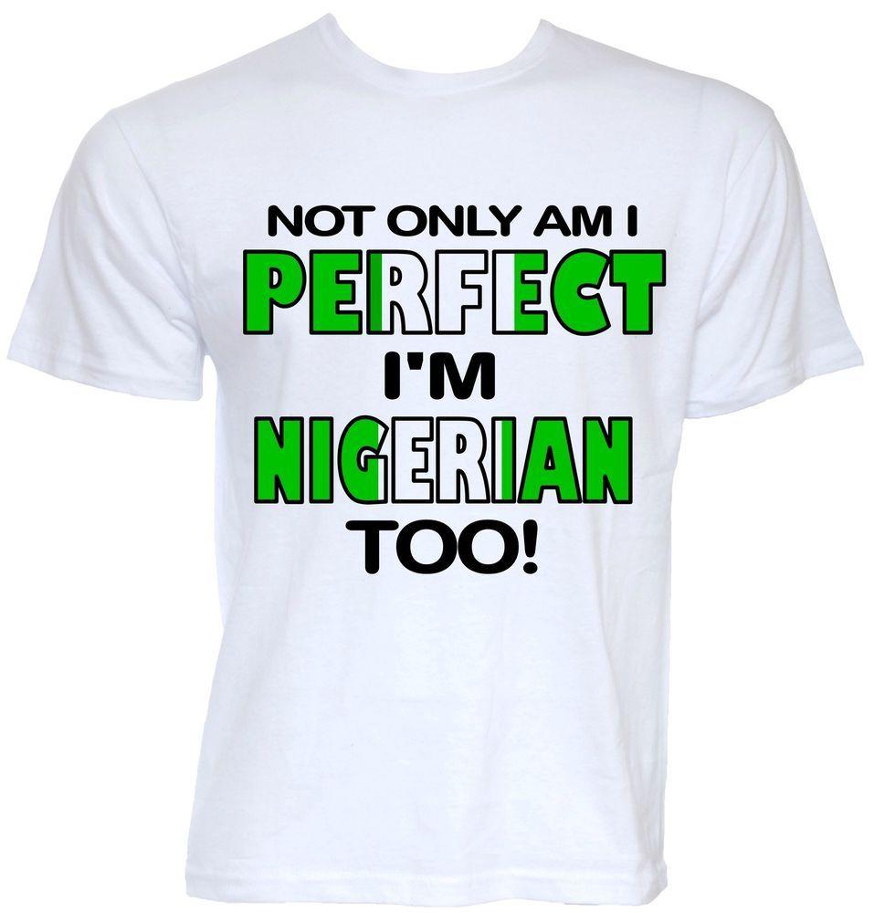 Mens Funny Cool Novelty Nigerian Nigeria Flag T Shirt Joke Gift Present Slogan Happy Independence Day Nigeria Slogan Mens Tops