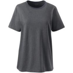 Photo of Supima Petite Size Short Sleeve Round Neck Shirt – Gray – 32-34 by Lands 'End Lands' EndL