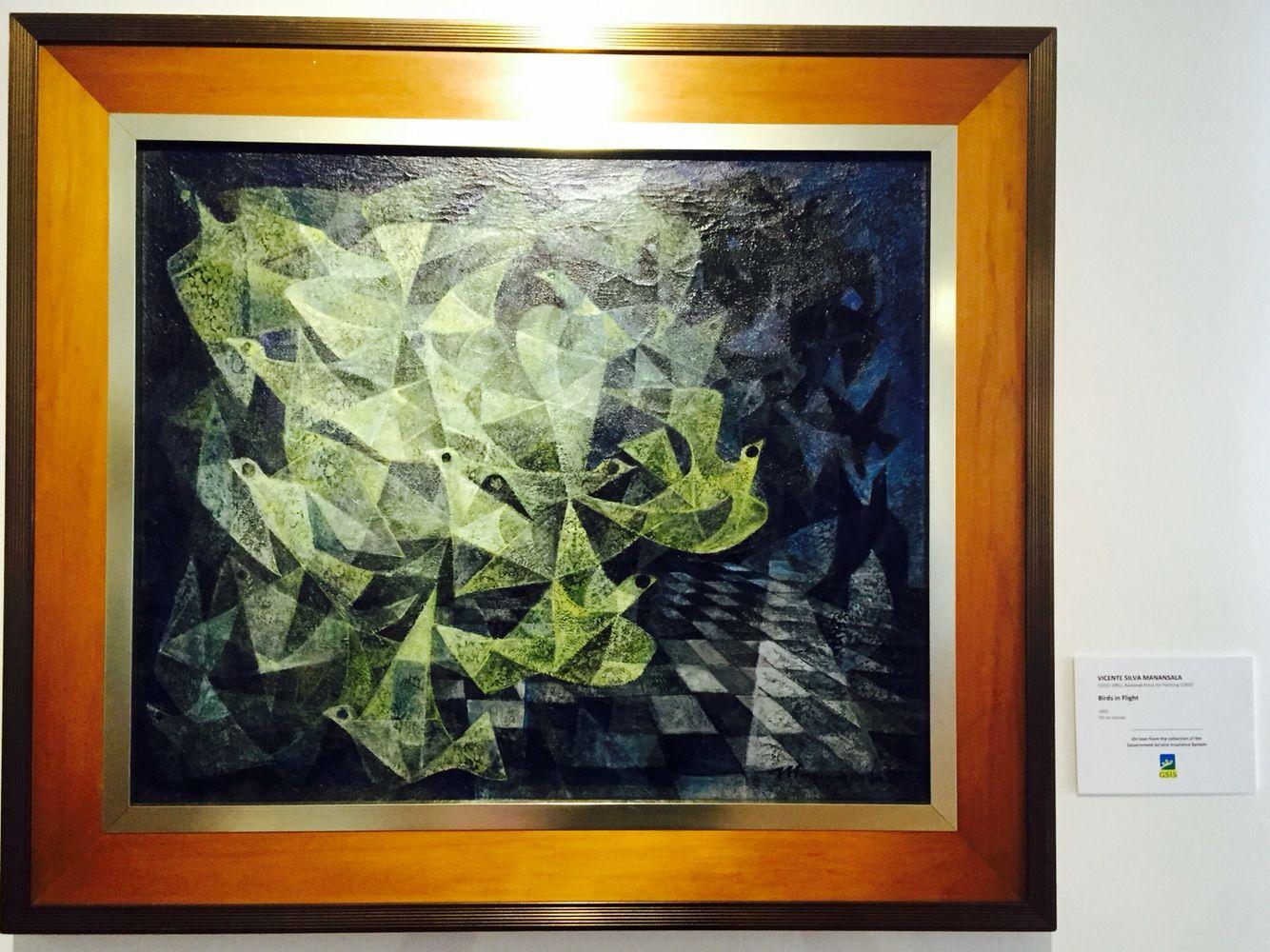 Birds in Flight by Vicente Silva Manansala art painting