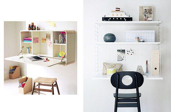 Escritorios de pared la soluci n a los espacios peque os - Escritorios espacios pequenos ...