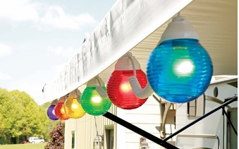 Rv Awning Globe Light Multi Colored Set Of 10 Party Lights Rv Globe Light Multi Color 10 Pack Offe Camping Lights Rv Camping Checklist Rv Parts And Accessories