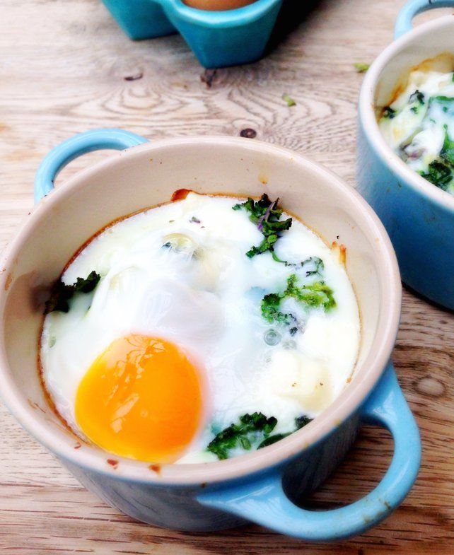 Recipes For Egg Bake Dishes: Baked Eggs With Feta And Kale. (AKA A Great Excuse To Get