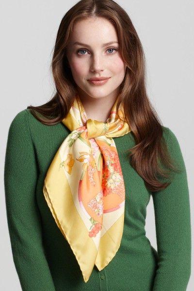 52320f7736658 Pictures of Ladies Wearing Silk Scarves | the vanity. in 2019 | Silk ...