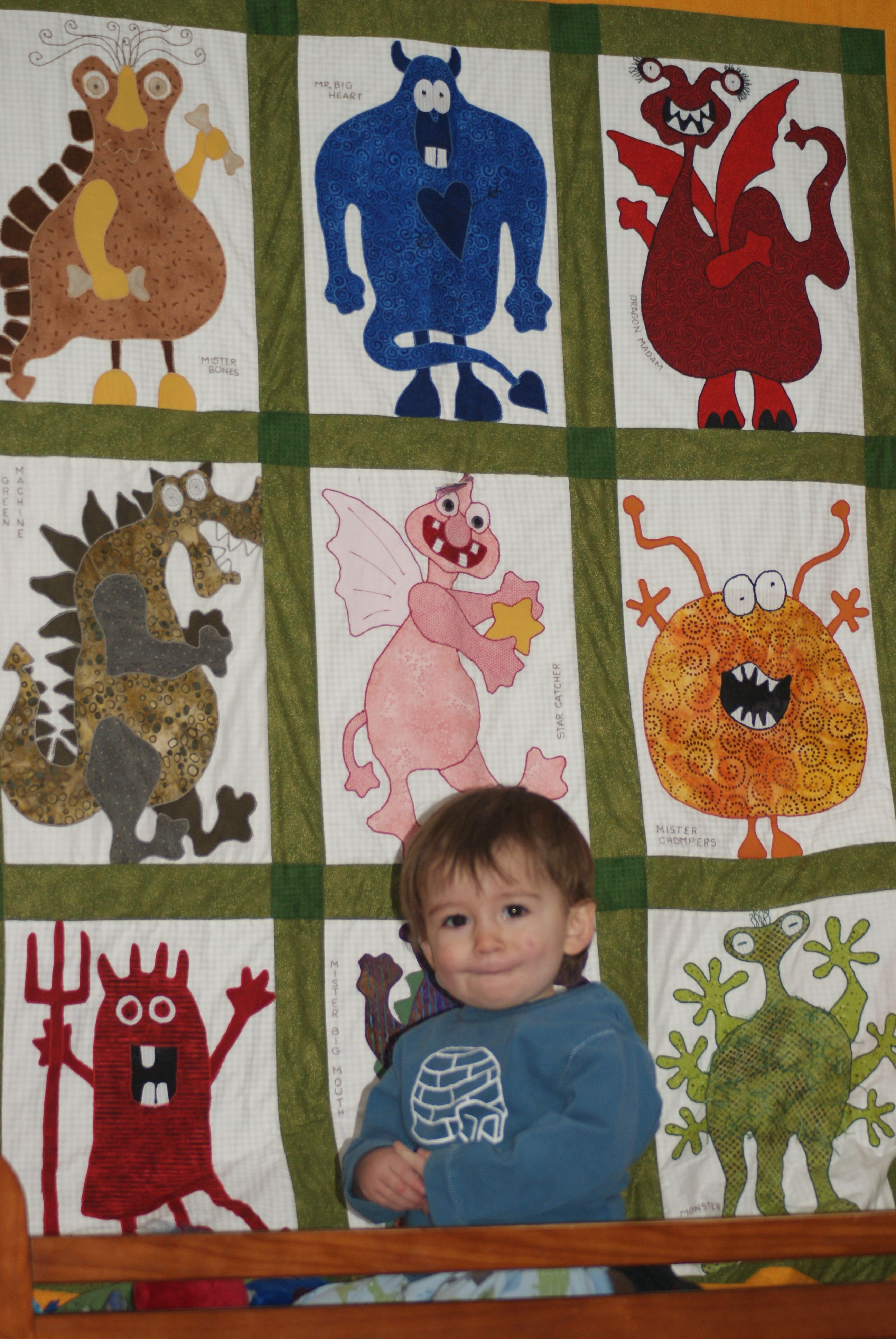 Monster Quilt made by my mom.