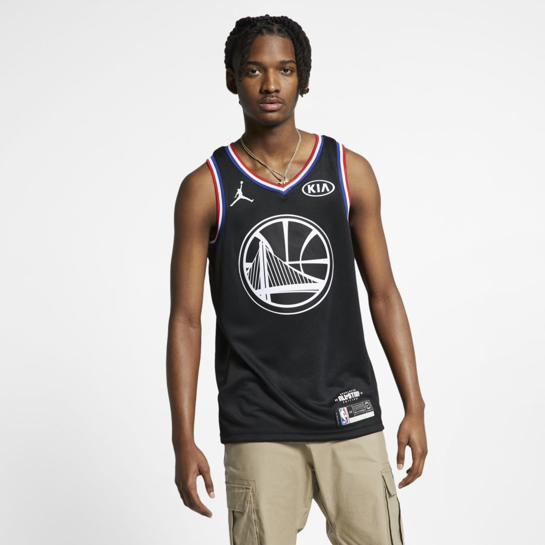 5a67ffc7938f Stephen Curry All-Star Edition Swingman Men s Jordan NBA Connected Jersey  Size S (Black