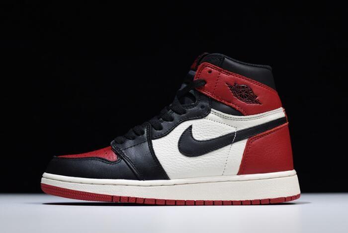 New Air Jordan 1 Retro High Og Bred Toe 555088 610 Men And