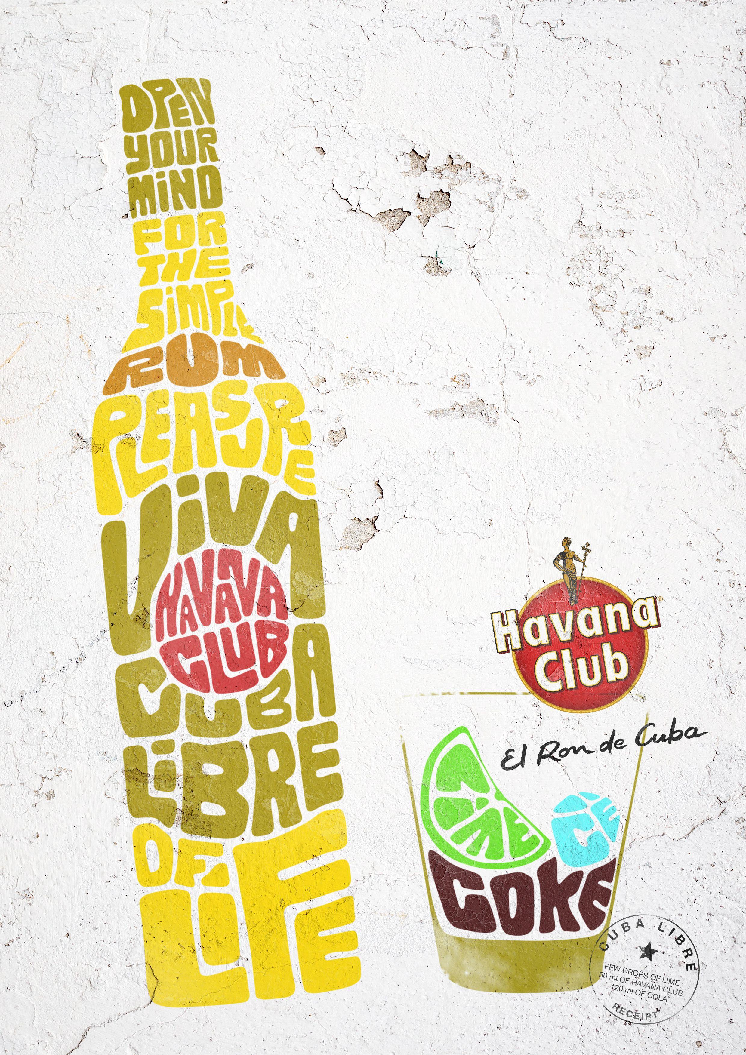 Havana Club / Cuba Libre: Student Print Ad, Complicated Layout ...