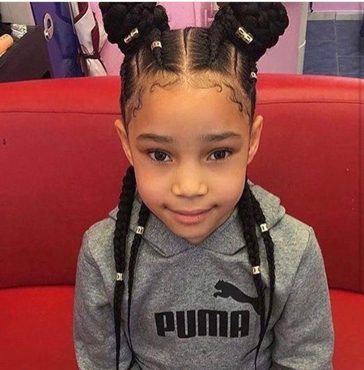Top Braided Curly Crown Princess Hairstyle Black Girls HairstylesAfrican Hairstyles For KidsBaby