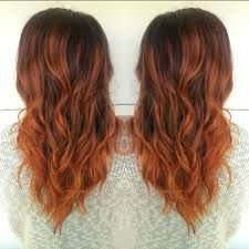 Image Result For Red Balayage Hair Baylage Hair Copper Balayage
