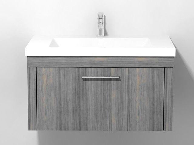 Duravit 2nd floor - Vanity unit wall-mounted Oak Anthracite real ...