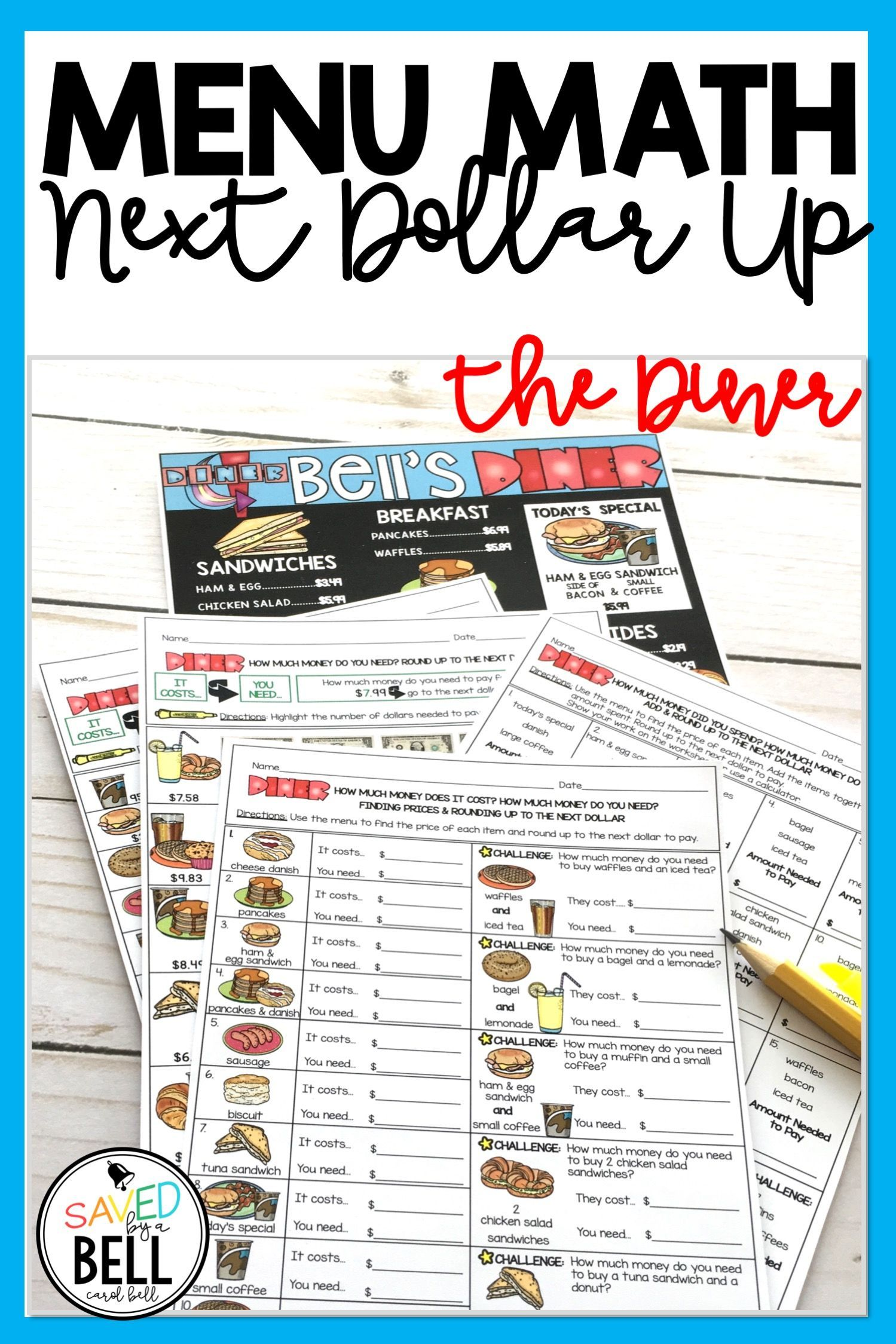 These no prep Next Dollar Up Printables help students practice real world  math. These print…   Math worksheets [ 2249 x 1499 Pixel ]