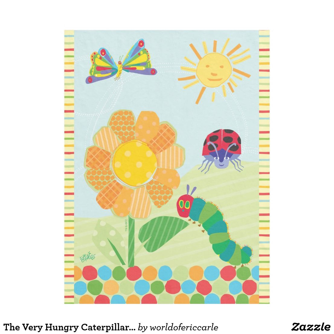The Very Hungry Caterpillar, Good Morning Sunshine Fleece Blanket ...