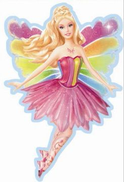 Kids Wall Stickers Barbie Fairy Princess Magic Of The Rainbow Wall