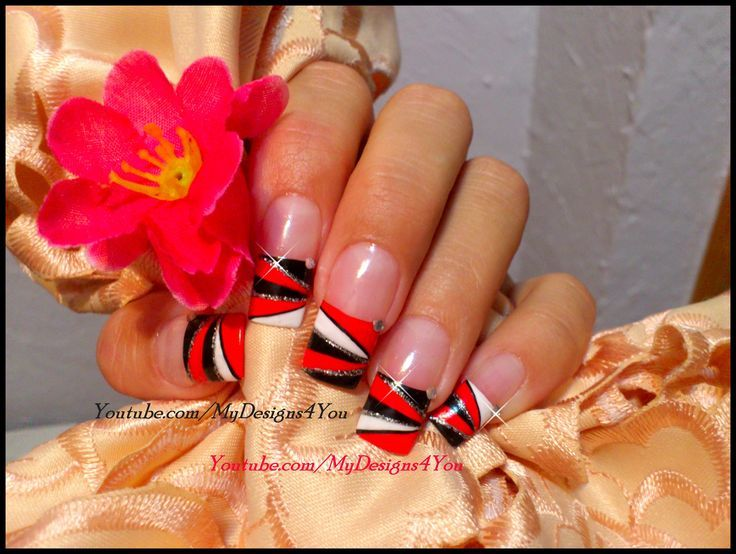 Add yellow/half the layers-Calgary flames | Nails | Pinterest
