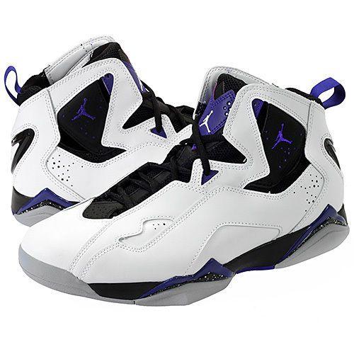 Nike Men's Jordan TRUE  Flight Basketball Shoes WHITE PURPLE GREY SZ 10 /11