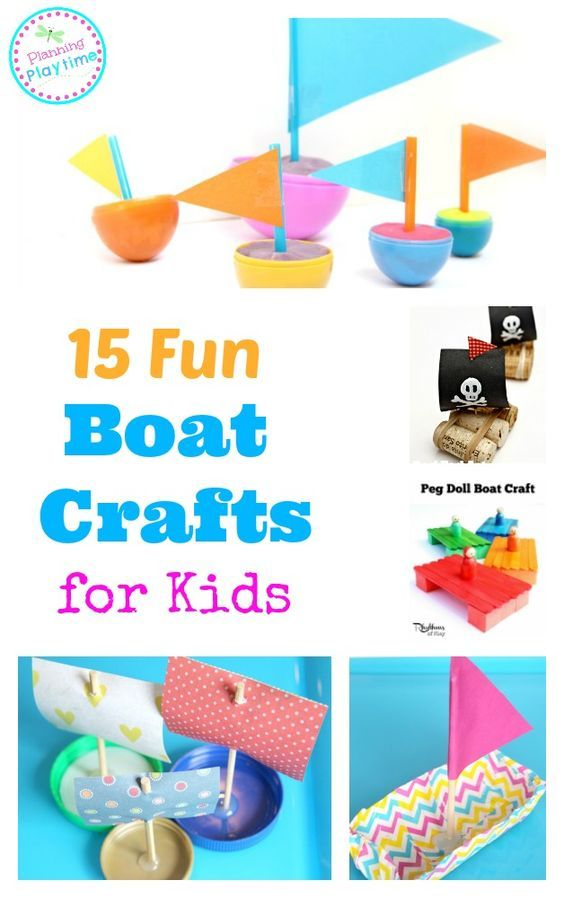 15 Fun Boat Crafts for Kids.