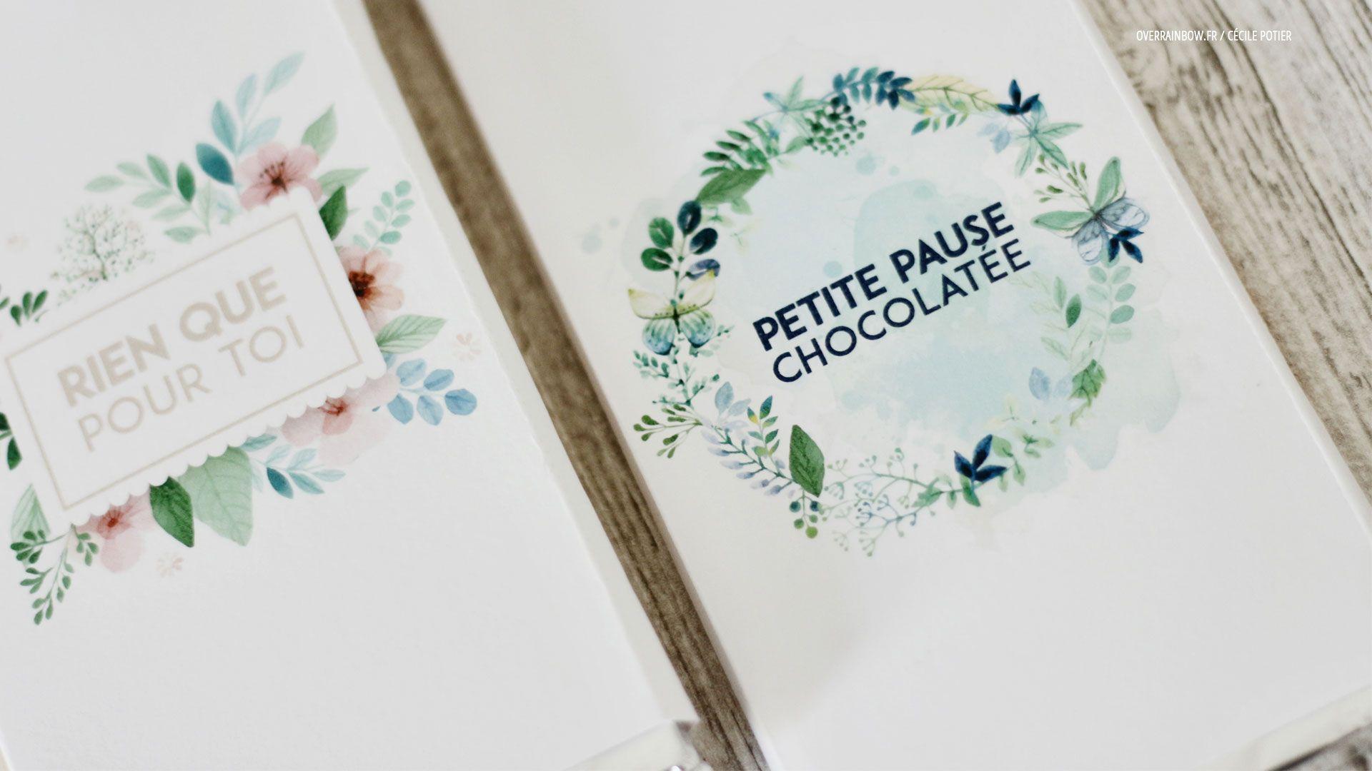 Hervorragend Packaging tablette de chocolat à imprimer | DIY | Mes freebies  YZ34