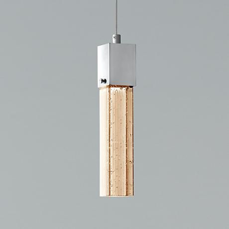 This distinct Possini Euro Design Tinela glass LED mini pendant proves that a little goes a long way with charm, and will improve the look and feel of your area.