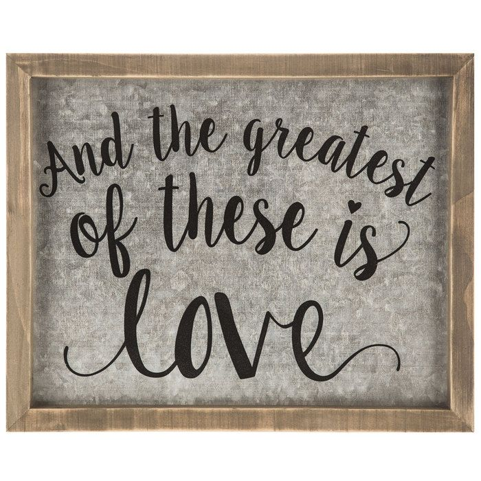 Greatest Of These Is Love Galvanized Wood Wall Decor Galvanized Wall Art Wood Wall Decor Galvanized Decor