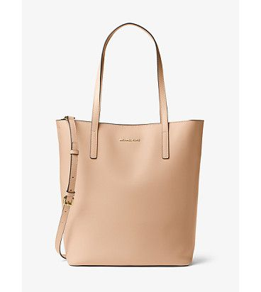 Michael Michael Kors Emry Large Leather Tote Large Leather Tote Leather Tote Grey Leather Purses