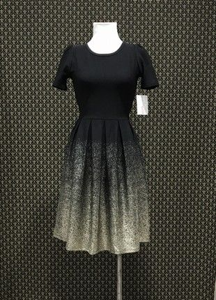 ea34d3df972f LulaRoe Amelia Dress Black w/Gold Dust Ombre | LULAROE OUTFIT ...