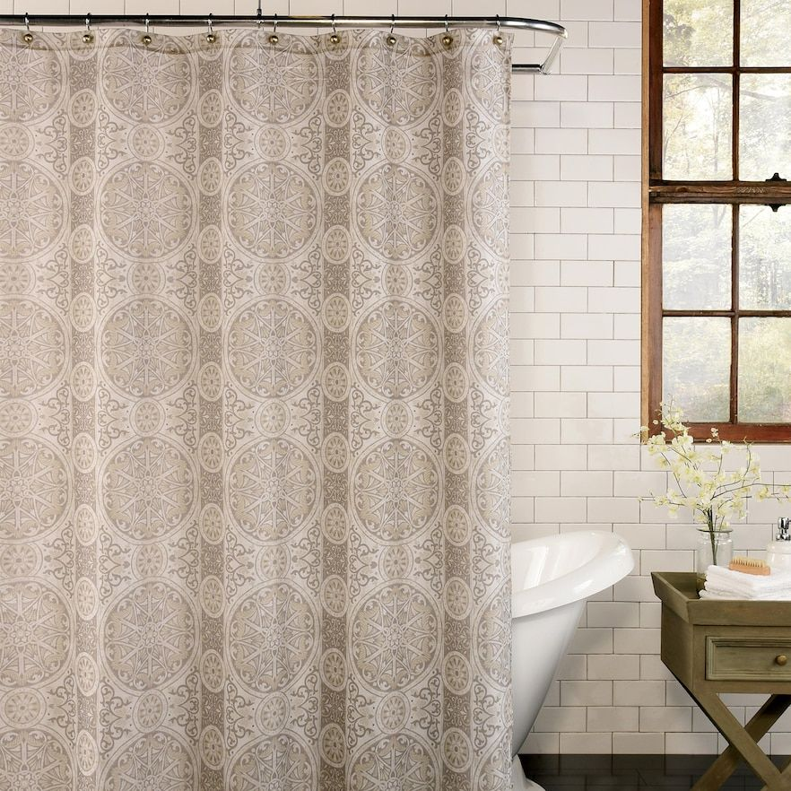 Excell Acacia Shower Curtain Fabric Shower Curtains Curtains