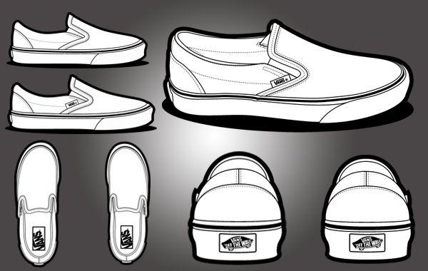 Free Vectors: Vans Classic Template Shoe | Art | Jojo Mendoza