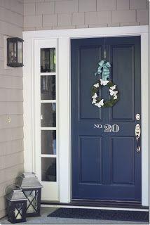 marvelous front door steps. Navy front door  blue Number and Doors