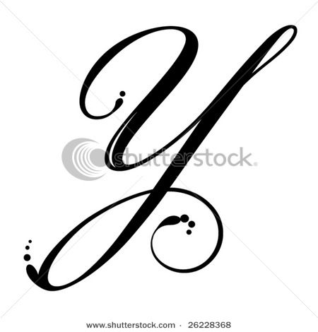Gallery For gt The Letter Y In Cursive