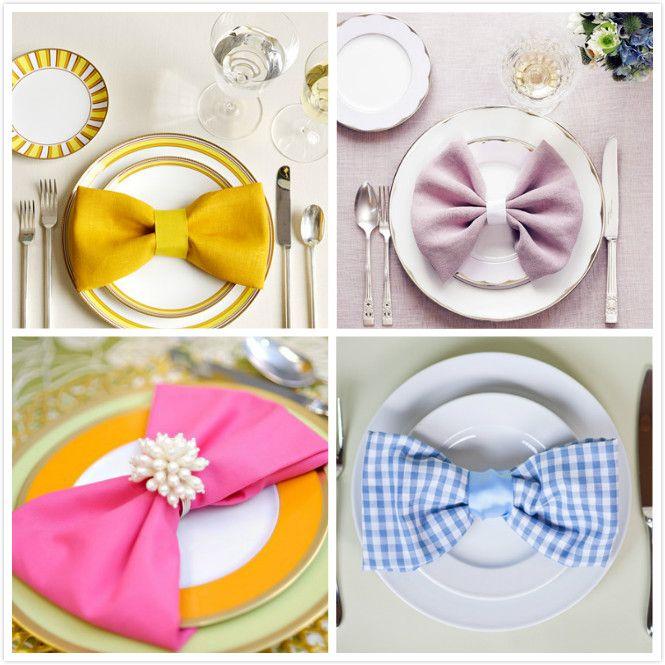 Napkin Folding Ideas For Weddings: Bow Tie Napkin Fold