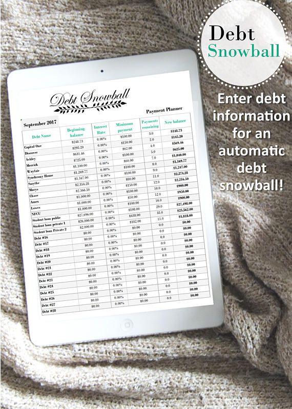 Debt snowball excel excel debt payoff excel credit card Credit