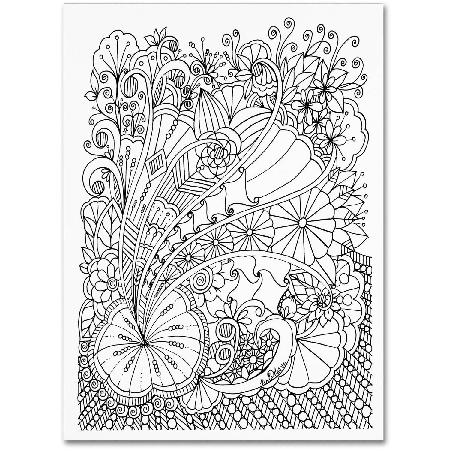 Trademark Fine Art Zendoodles 25 Canvas Art By Kcdoodleart Walmart Com In 2021 Canvas Art Trademark Fine Art Zen Doodle