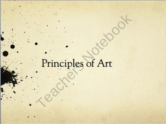 7 Principles Of Design In Art : Principles of art powerpoint great way to introduce and teach