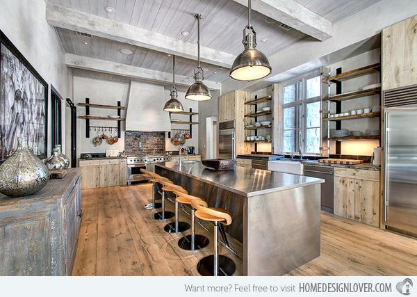 15 Outstanding Industrial Kitchens Home Design Lover Industrial Kitchen Design Industrial Style Kitchen Rustic Kitchen Design