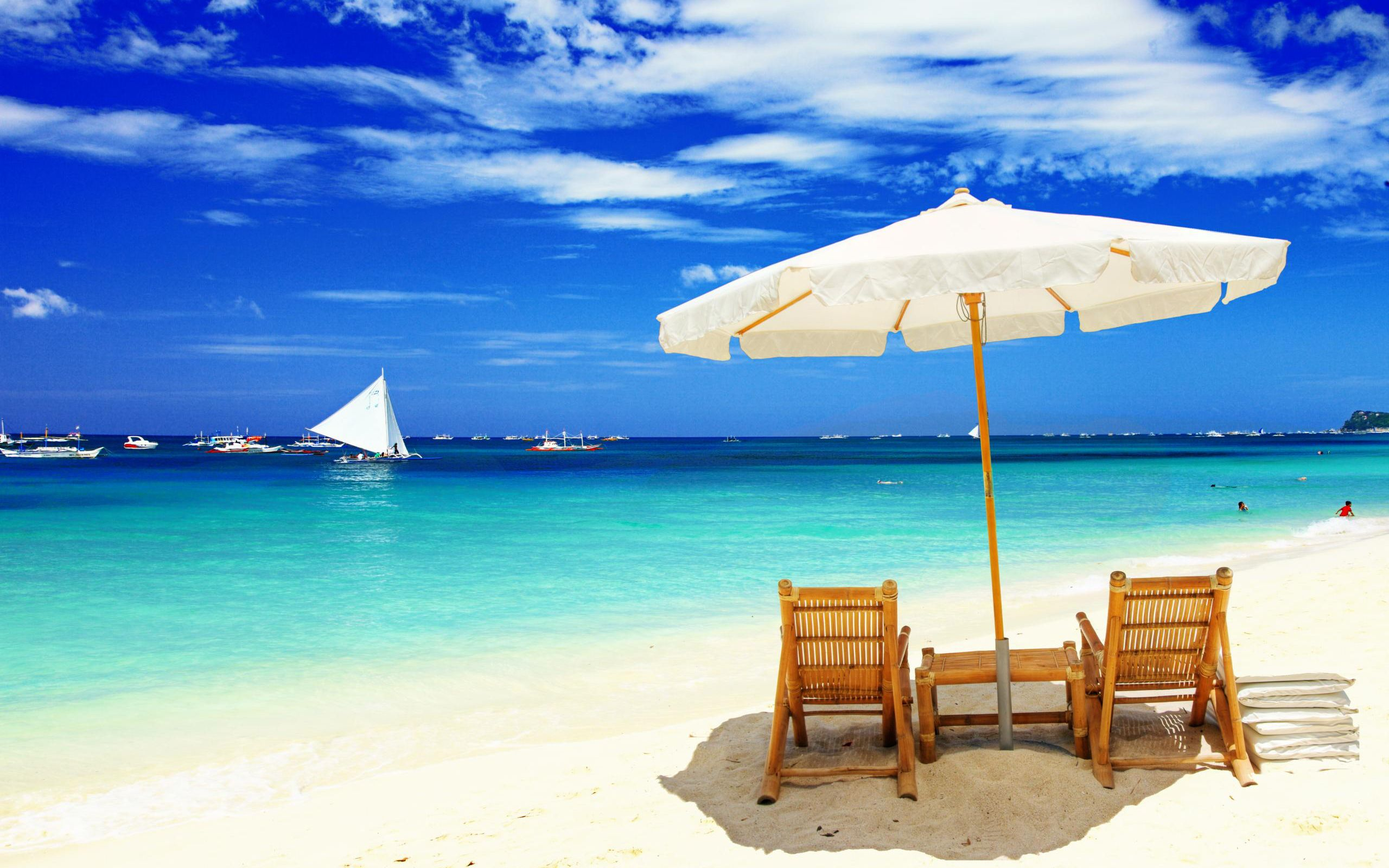 Free Beach Chair Wallpaper