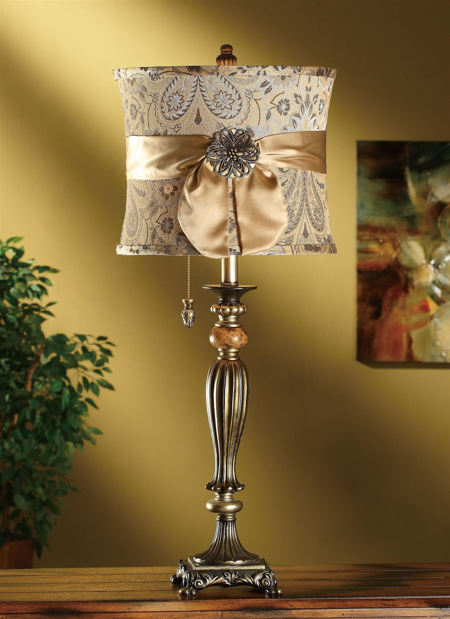 Lamp Shades Near Me Entrancing Crestview Fairfield Table Lamp Cvatp500  Lampshades Lights And Shabby Decorating Design