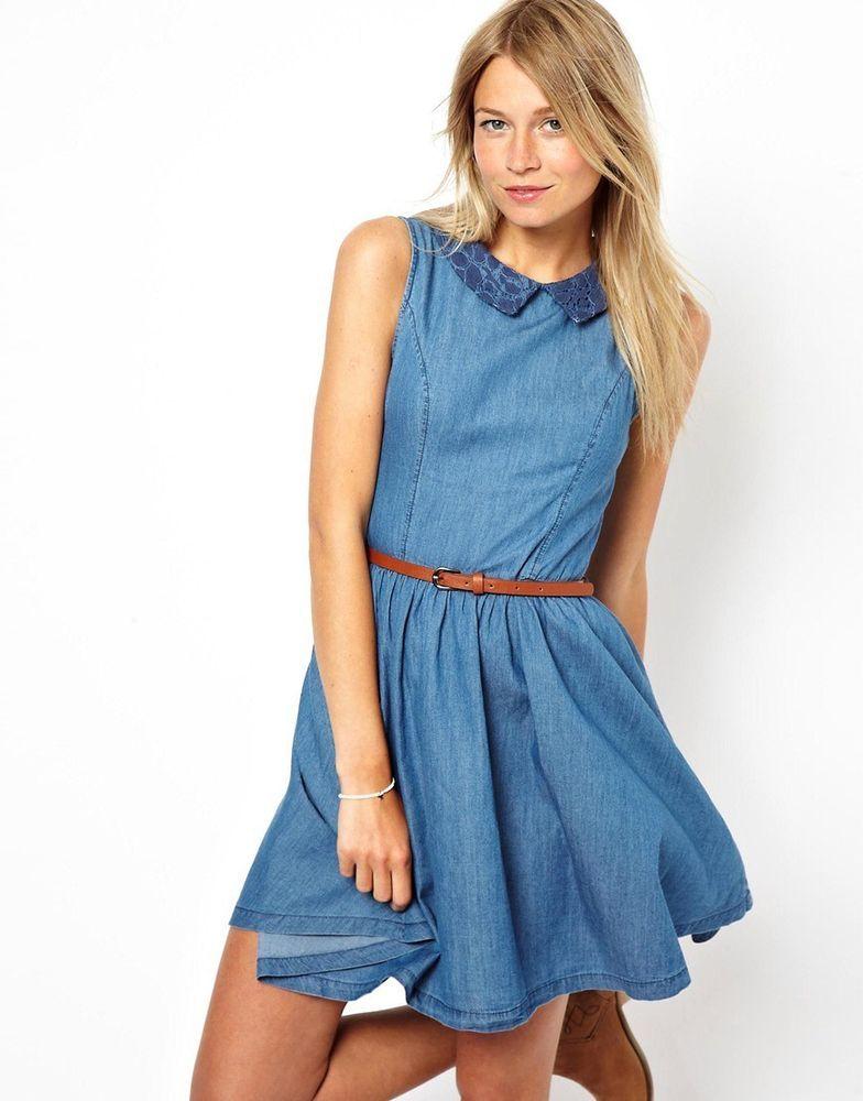 7492f01641d8 #DenimDress Oasis Denim Skater Dress With Lace Insert 16 - Denim Dress  $45.76 End Date: Sunday Nov-18-2018 14:25:06 PST Buy It Now for only:  $45.76 Buy It ...