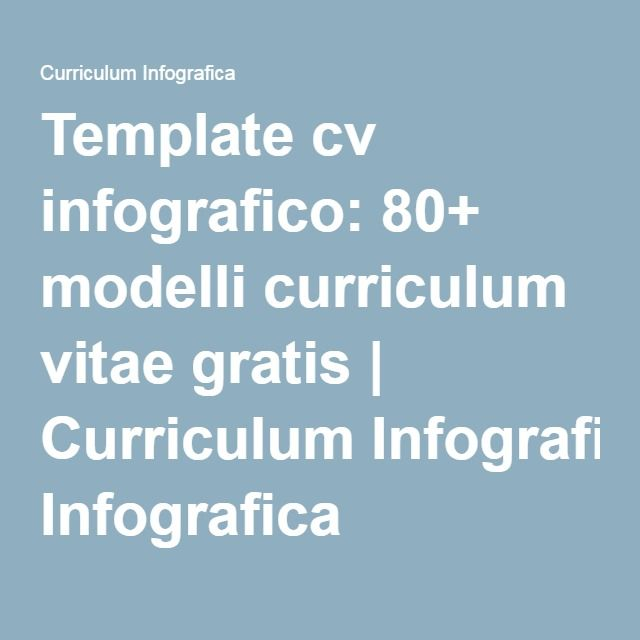 Template Cv Infografico 80 Modelli Curriculum Vitae Gratis Infografica Programma Scolastico E Curriculum Vitae