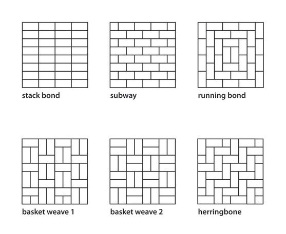 Installation Patterns For Wood Look Tiles Subway Tile Patterns Tile Layout Patterns Tile Layout