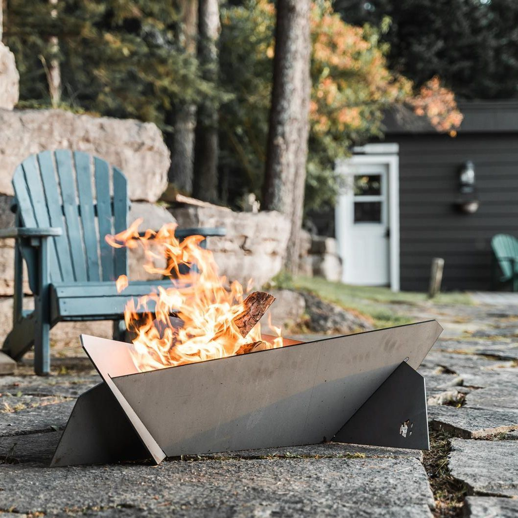 Keep the fresh-air fun going throughout the fall with this steel fire pit. Don't forget the s'mores!