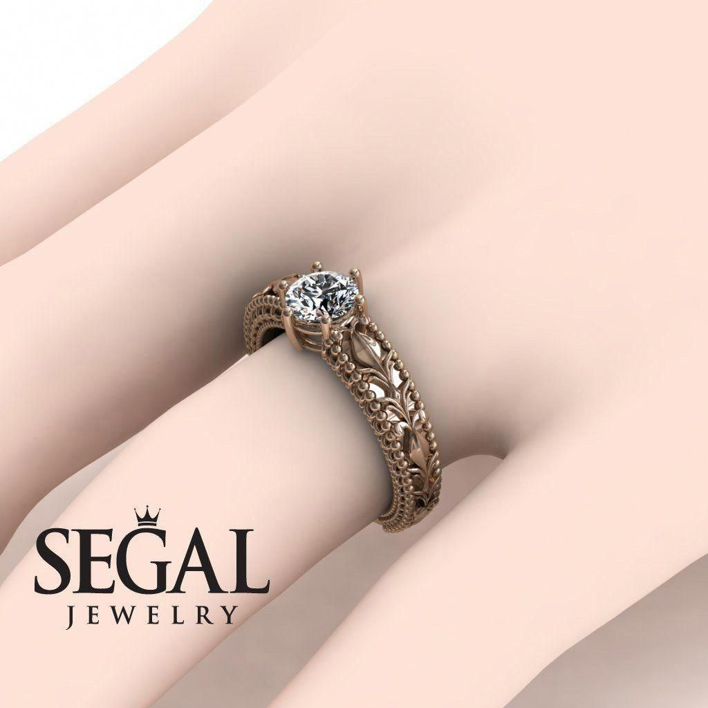 Rose Gold Engagement Ring by Segal Jewelry #rosegoldengagementrings ...