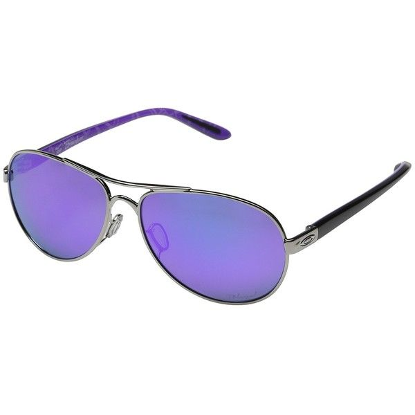 67edef1ba4 Oakley Tie Breaker (Polished Chrome Violet Haze Violet Iridium... ( 210) ❤  liked on Polyvore featuring accessories