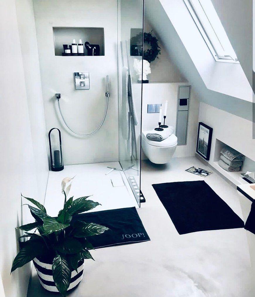 13 Tips To Make Your Bathroom Sparkle Bathroom Interiordesign Bathroomdesign Bathroom In 2020 Badezimmer Dachschrage Badezimmer Dachgeschoss Wohnung Badezimmer