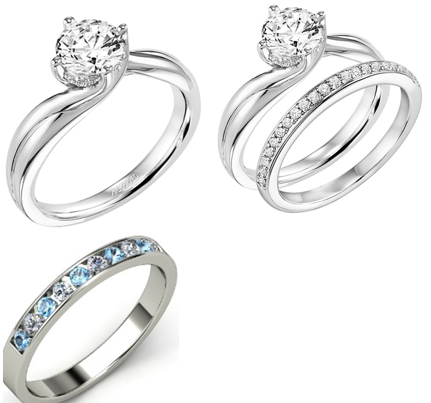 Whitney White Gold Diamond solitaire in a twist setting
