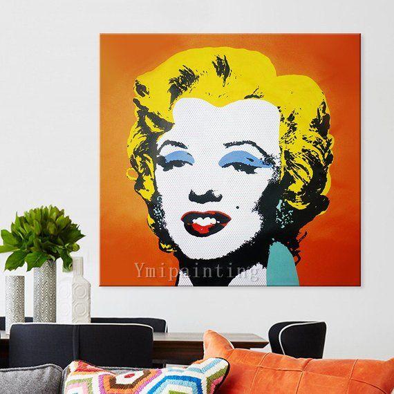 Marilyn Monroe Pop Art Andy Warhol Oil Paintings On Canvas Hand